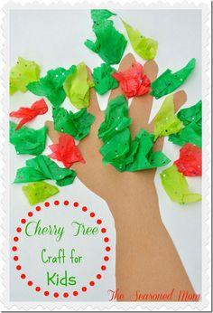 Presidents Day -- George Washington Cherry Tree Craft for Kids (www.TheSeasonedMom.com)