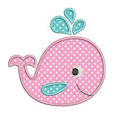 Applique ballena bebé lindo II máquina de bordados diseños de