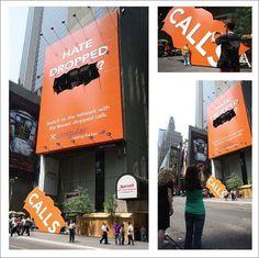 Cingulars Dropped Calls Guerrilla Ad Campaign