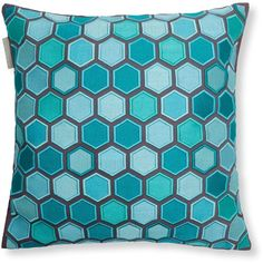 """Madura Honey Decorative Pillow Cover, 16"""" x 16"""" (490 ILS) ❤ liked on Polyvore featuring home, home decor, throw pillows, turquoise blue, turquoise home decor, embroidered throw pillows, turquoise throw pillows and turquoise accent pillows"""