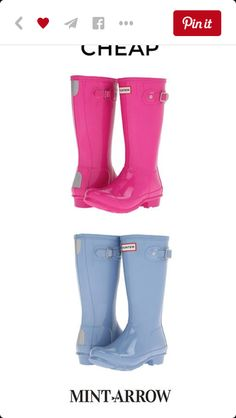 colored hunter rain boots