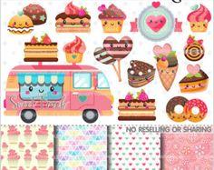 Süßigkeiten-Clipart Süßigkeiten Grafiken von TheHappyGraphics