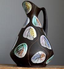 LARGE Vintage 59's BAY KERAMIK KONGO Vase by BODO MANS German Pottery Fat Lava E Bodo, Lava, German, Pottery, Ceramics, Space, Vintage, Deutsch, Ceramica