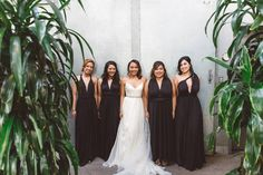 When your bridesmaids are ready and lined up for you!