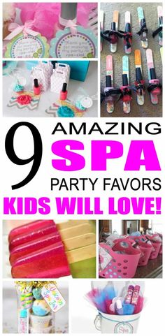 Spa parties are so much to plan for - love all the cute things you can do to make a spa party so cute and fun. If you are looking for the best spa party favor ideas then look no further.