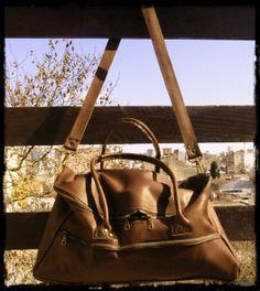 Luca Leather travel bag - Luca: Bolso de viaje en cuero
