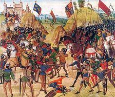 Battle of crecy froissart. // La guerra de los Cien Años (en francés: Guerre de Cent Ans; en inglés: Hundred Years' War) fue un conflicto armado que duró 116 años (1 de enero de 1337 - 17 de octubre de 1453) entre los reinos de Francia e Inglaterra. Victoria de Francia y sus aliados. Tuvo implicaciones internacionales y finalmente, después de numerosos avatares, se saldó con la retirada inglesa de tierras francesas.