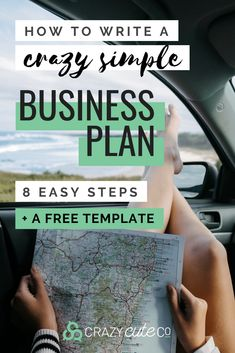 How to Write a Crazy Simple Business Plan in 8 Steps - How to write a simple business plan. An easy fillable Business Plan template for CREATIVE BU - Small Business Plan, Writing A Business Plan, Business Advice, Home Based Business, Business Entrepreneur, Business Planning, Business Marketing, Online Business, Simple Business Plan Template