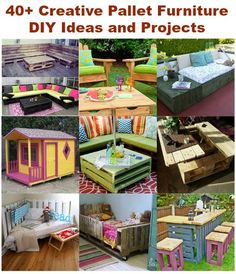 40+ Creative Pallet Furniture DIY Ideas and Projects