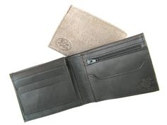 Men's Leather Wallet  in MATTE BLACK No. 314 by AmielLeatherDesign, $47.00