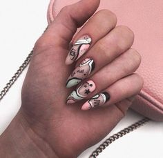 Here is a tutorial for an interesting Christmas nail art Silver glitter on a white background – a very elegant idea to welcome Christmas with style Decoration in a light garland for your Christmas nails Materials and tools needed: base… Continue Reading → Halloween Acrylic Nails, Best Acrylic Nails, Nail Swag, Aycrlic Nails, Nail Manicure, Stiletto Nails, Gel Nail, Stylish Nails, Trendy Nails