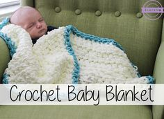 [Video Tutorial] This Super Simple Crochet Baby Blanket Is An Easy Beginner Crochet Project - http://www.dailycrochet.com/video-tutorial-this-super-simple-crochet-baby-blanket-is-an-easy-beginner-crochet-project/