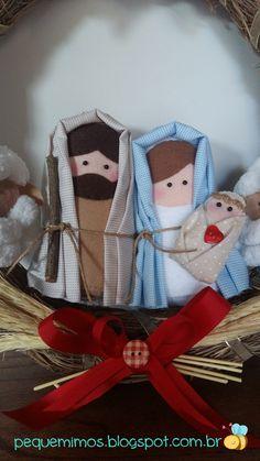 pequemimos: I wish . Christmas Nativity, Christmas Cross, Christmas 2017, Christmas Diy, Xmas, Christmas Ornaments, Holy Night, Felt Dolls, Holiday Decor