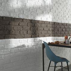 Plaquette de parement Manhattan - CASTORAMA Une crédence en briques !!!!