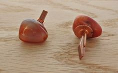 Carnelian and copper cufflinks.