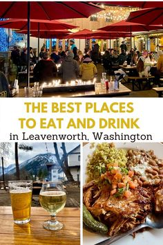 Best Places To Eat, Best Places To Travel, Leavenworth Washington, Us Travel Destinations, Travel Guides, Travel Tips, Summer Travel, Foodie Travel, Washington State