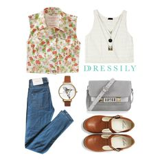 We love weekends! Throw on a sleeveless collared shirt in floral prints over a simple white tank and good ol' blue jeans for a fuss-free yet cute and chic look. www.dressi.ly