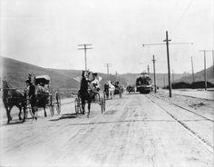 Sunset Blvd, Los Angeles, California, 1909