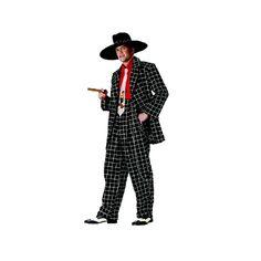 Zoot Suit Gangster Черные Zoot костюмы