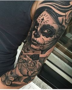 Day of the dead girl by @ciglatattoo #mexicanstyle_tattoos #mexstyletats #mexicanculture #ink #tattoos #blackandgrey #dayofthedead #diadelosmuertos