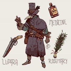Plague Doctor by Fernando Correa : ImaginaryCharacters Fantasy Character Design, Character Design Inspiration, Dnd Characters, Fantasy Characters, Game Character, Character Concept, Dark Fantasy, Fantasy Art, Gato Anime