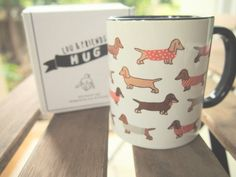 Dachshund Mug by LouandFriendsTH on Etsy
