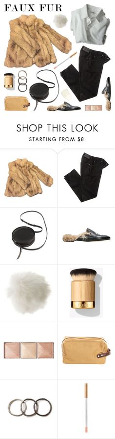 """Faux Fur"" by deepwinter ❤ liked on Polyvore featuring Topshop, 7 For All Mankind, Sara Barner, Dogpile, Chiara Ferragni, Miss Selfridge, Hourglass Cosmetics, PX, Pearls Before Swine and fauxfur"
