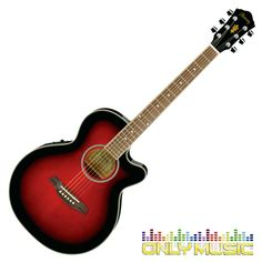 Guitarra Electroacústica Ibanez Color Rojo