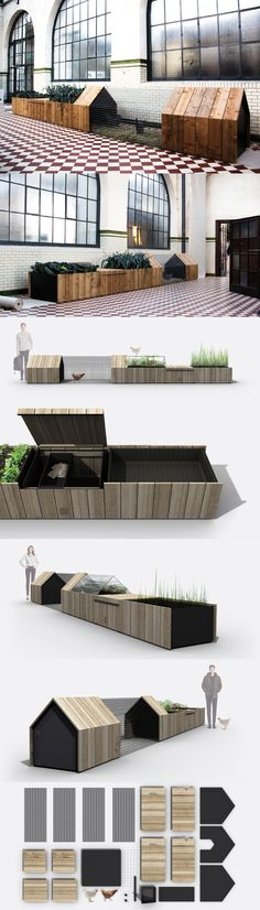 Chicken Coop - studio segers enables city farming with daily needs unit all images courtesy of studio segers Building a chicken coop does not have to be tricky nor does it have to set you back a ton of scratch. Diy Jardim, Dream Garden, Home And Garden, Garden Bed, Outdoor Spaces, Outdoor Living, Design 3d, Design Ideas, City Farm