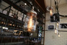 Find out more about our James St Ribs & Burgers store - then come on in! A Table, Table Lamp, Burger Restaurant, Mason Jar Lamp, Ribs, Burgers, Light Bulb, This Is Us, Australia