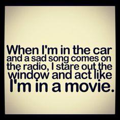 Hahahaha! I sooooo do this!!