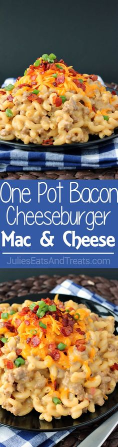 One-Pot Bacon Cheeseburger Mac & Cheese: a super simple weeknight dinner that is hearty and comes together with minimal dishes! ~ http://www.julieseatsandtreats.com