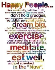 Good advice for living a healthy life