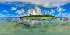 https://flic.kr/p/Gspv4v | Between the pinnacles in Nauru - higher quality virtual tour in description | Wade in the clear waters