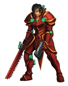 Human Knight of Golarion Soldier - Starfinder RPG (Core Rulebook Art)