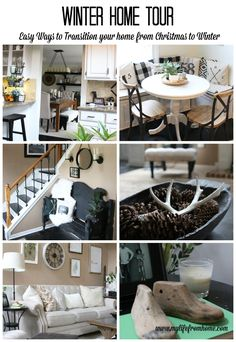 Winter Home Tour   easy ways to decorate for winter   winter decor   decorating for winter   winter decorating   home tour   ideas for winter decor   transitioning decor from Christmas to Winter   neutral home decor