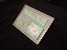 Copper with green patina on Precision Board. Designed and cut by KDF