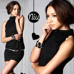 Vestido negro ajustado,  encuentra esto y mucho más en: www.niuenlinea.co
