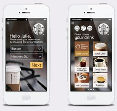 #Starbucks Corporation /// #App for pay & collect later #eshop #ecommerce #design #ux