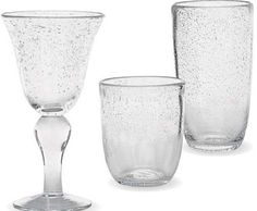 Clear Bubble Glass Beverageware by Park Designs