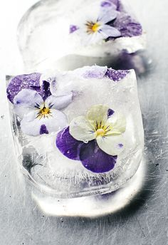 Flower Ice Cubes / Wholesome Foodie <3