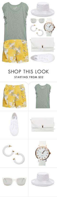 """""""Ruffles 3"""" by meaganmuffins ❤ liked on Polyvore featuring J.O.A., Juvia, Superga, Lederer, Kenneth Jay Lane, Polo Ralph Lauren, SONOMA Goods for Life, ruffles and RuffLyfe"""