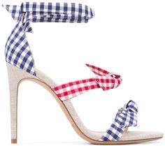 Picnic-Ready Alexandre Birman Clarita Gingham Ankle-Tie Sandals