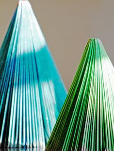 Magazine Christmas Trees - easy to do & a great craft for kids