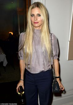 Friends in high places: Contributing editor to British Vogue, Laura Bailey, also attended the party