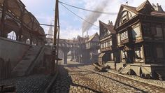 medieval town fantasy king deviantart beere crossing concept udk village market street names rpg places 3d sci fi artist scene