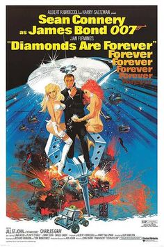 Diamonds Are Forever (United Artists, Poster X James Bond. Starring Sean Connery, - Available at Sunday Internet Movie Poster. James Bond Movie Posters, Classic Movie Posters, James Bond Movies, Classic Movies, Sean Connery James Bond, Films Cinema, Cinema Posters, Film Posters, Forever Movie