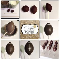 """A quick football cake pop tutorial for those of you that missed the show today? You will need chocolate melts, white melts, cake pop sticks, a toothpick…"" (miss cake baby shower) Football Cake Pops, Football Treats, Football Food, Football Banquet, Food Cakes, Cupcake Cakes, Cake Pop Tutorial, Football Baby Shower, Cake Pop Sticks"