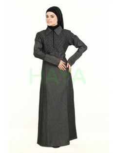 Traditional Muslim dress for women, Designer Islamic clothing for women, Women clothing in Islam Denim Abaya, Perfect Fall Outfit, Muslim Dress, Islamic Clothing, Fall Outfits, Traditional, Clothes For Women, Stylish, How To Wear