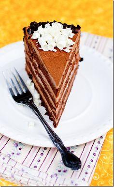 Prague Cake (Chocolate Cake with Chocolate Custard Creme).